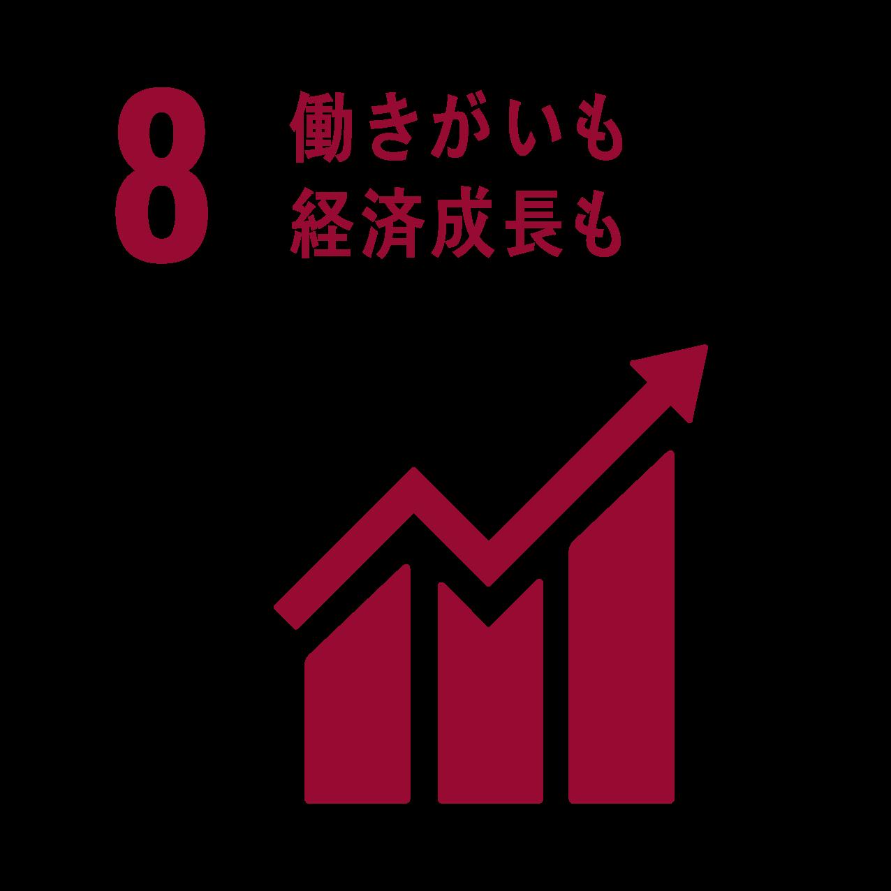 8働きがいも経済経済成長も